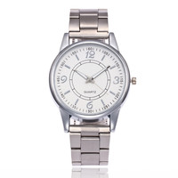 2017 Women New Quartz Wristwatches Silver Fashion Dress Watches Top Luxury Brand Ladies Bracelet Watches Clock