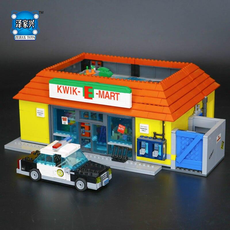 2232Pcs The Simpsons KWIK-E-MART Action Model Building Block Bricks Compatible Lepines Boy Gift Educational Figures Toys mart laar the power of freedom
