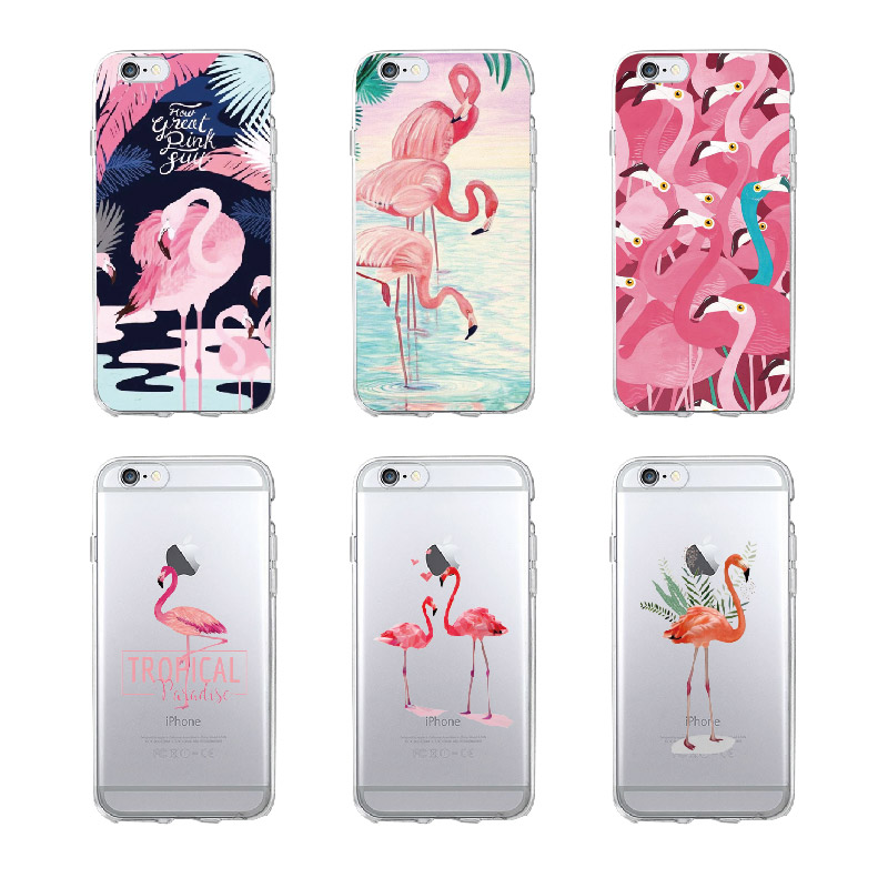 Obedient Sndas Coque For Iphone 7 7plus 6s 8 8plus X Xs Max Samsung S9 Plusummer Flamingo Tropical Floral Heart Soft Clear Phone Case Phone Bags & Cases
