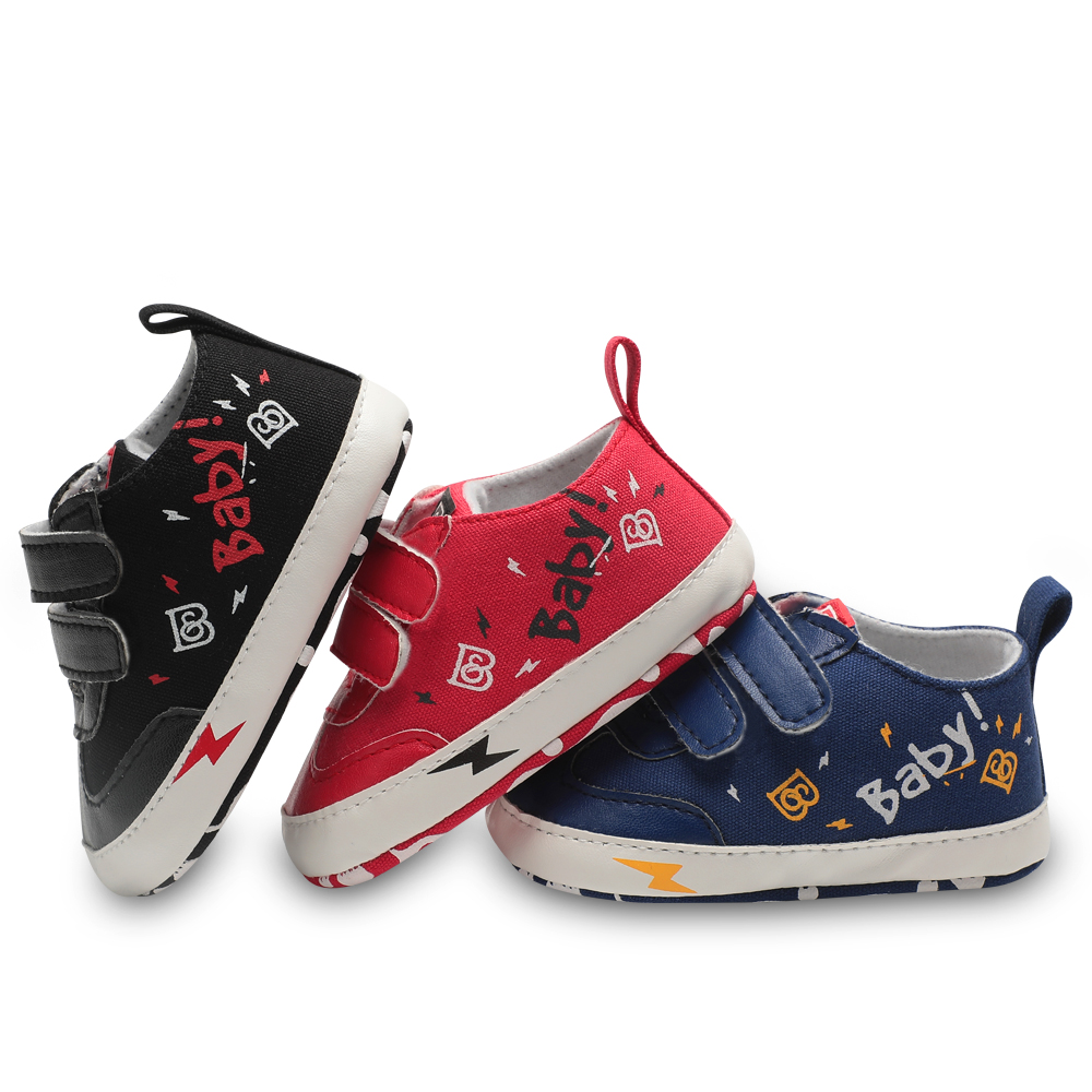 Infant Baby Boy Girl First Crib Shoes Canvas Sneakers Newborn to 18 Month