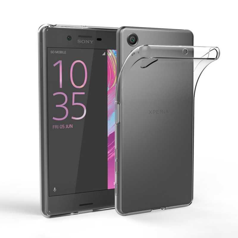 ברור קריסטל רך מקרה עבור Sony Xperia XA XZ XA1 XZ1 XA2 XZ2 XZ3 XZ4 L1 L2 L3 X Z1 z2 Z3 Z5 קומפקטי במיוחד פרימיום בתוספת Coque
