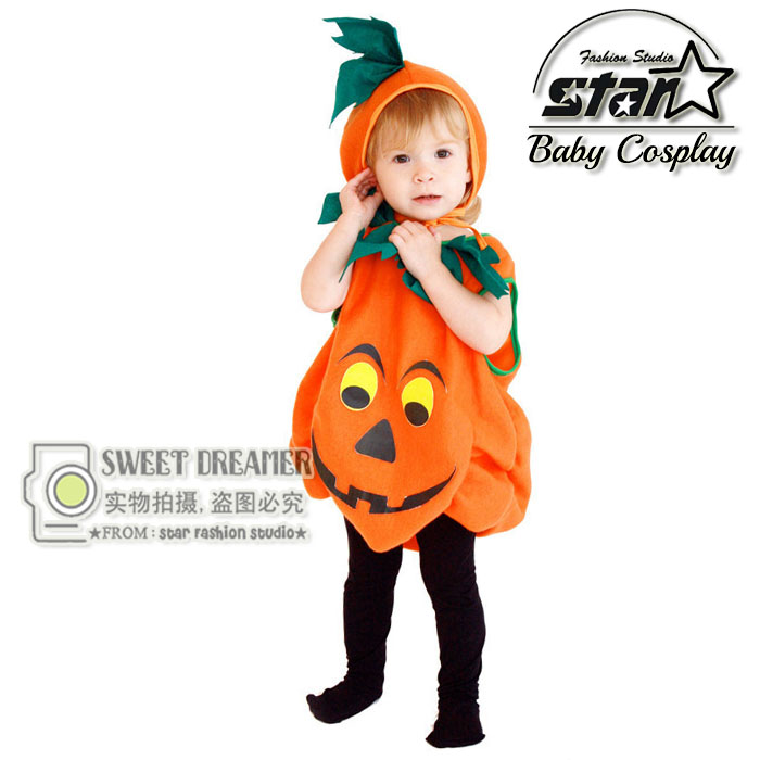 Baby Halloween Costume for Kids Girls Boys Halloween Pumpkin Romper Set Grimace Print Baby Rompers Infant Clothing Winter Romper