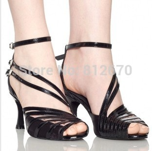 In Stock Wholesale & Retail Salsa Shoe High Heel ,Black,Nude,Gray,Blue Women's Satin Latin /Ballroom Dance Shoes