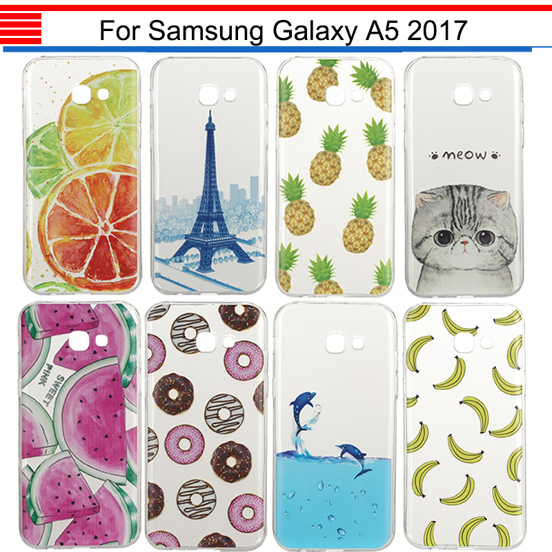 JURCHEN Case For Samsung Galaxy A5 2017 A520 A520F Cover TPU Silicone Cartoon Cute Soft Fundas For Samusng Galaxy A5 2017 Case ...