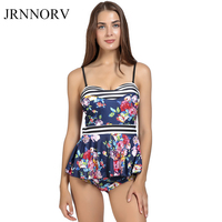 JRNNORV Women Sexy Leaf Print Off Shoulder Ruffled Bikini Set High Waist Cut Out Halter Swimsuit