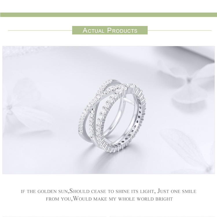 HTB19vEKXUzrK1RjSspmq6AOdFXaA BAMOER 2pcs Authentic 925 Sterling Silver Dazzling CZ Geometric Finger Rings for Women Wedding Engagement Jewelry anel SCR463