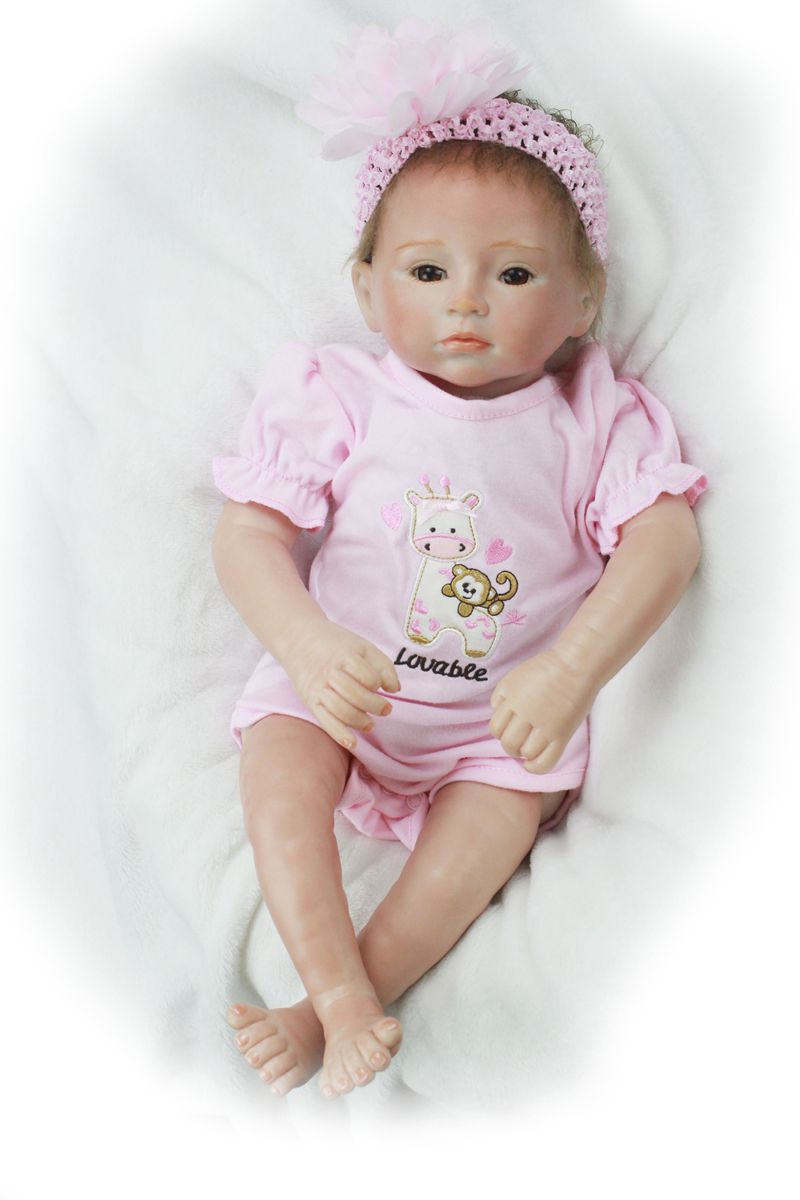 Pursue 20/50 cm High Quality Real Touch Silicone Reborn Baby Doll Alive Girl Baby Doll for Children Girl Boy Birthday Present pursue 22 56 cm big smile face reborn boy toddler baby doll cotton body vinyl silicone baby boy doll for children birthday gift
