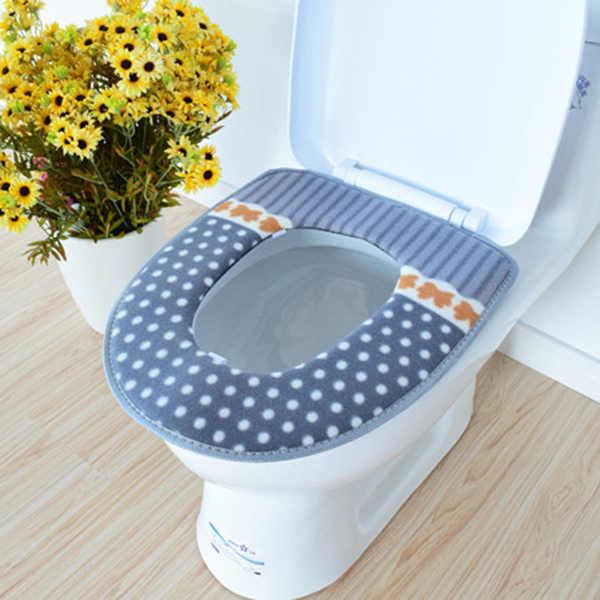 Новый Зимний подогреватель сиденья для унитаза флис толстый мягкий удобный детский детские горшки чехол Аксессуары для ванной комнаты FP