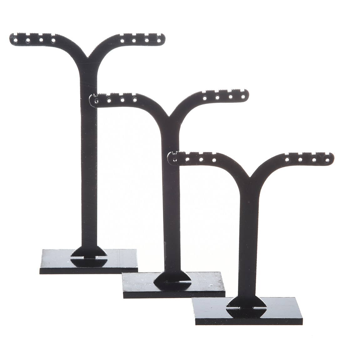 3 X Display Support Displaying Earrings Detachable Black And In Acrylic