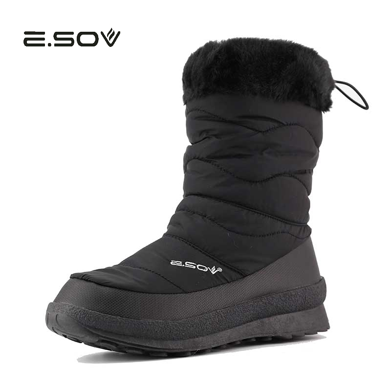 36-40 Warm Down Snow Boots Woman Dots  2017 New Ladies Winter Fur Warm Shoes Female Anti-slip Winter Boots Flat 2017 new  warm solid anti slip snow
