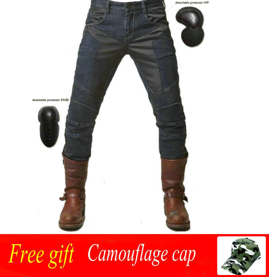 UGLYBROS JUKE UBP-01 jeans summer breathable men's motorcycle jeans moto jeans pantaloni moto pants motocros distressed blue jeans men latin cow brand clothing mid stripe luxury denim destoyed men s moto biker jeans ripped uomo 802 c