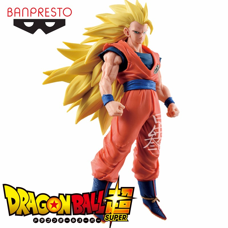 Original Banpresto Dragon Ball Z Super Saiyan 3 Son Gokou Dragon Ball Z Budokai 6 PVC Action Figure Collectible Model toy dragon ball dxf the super warriors vol 3 super saiyan rose gokou black and vegetto pvc figure collectible model toys kt4201