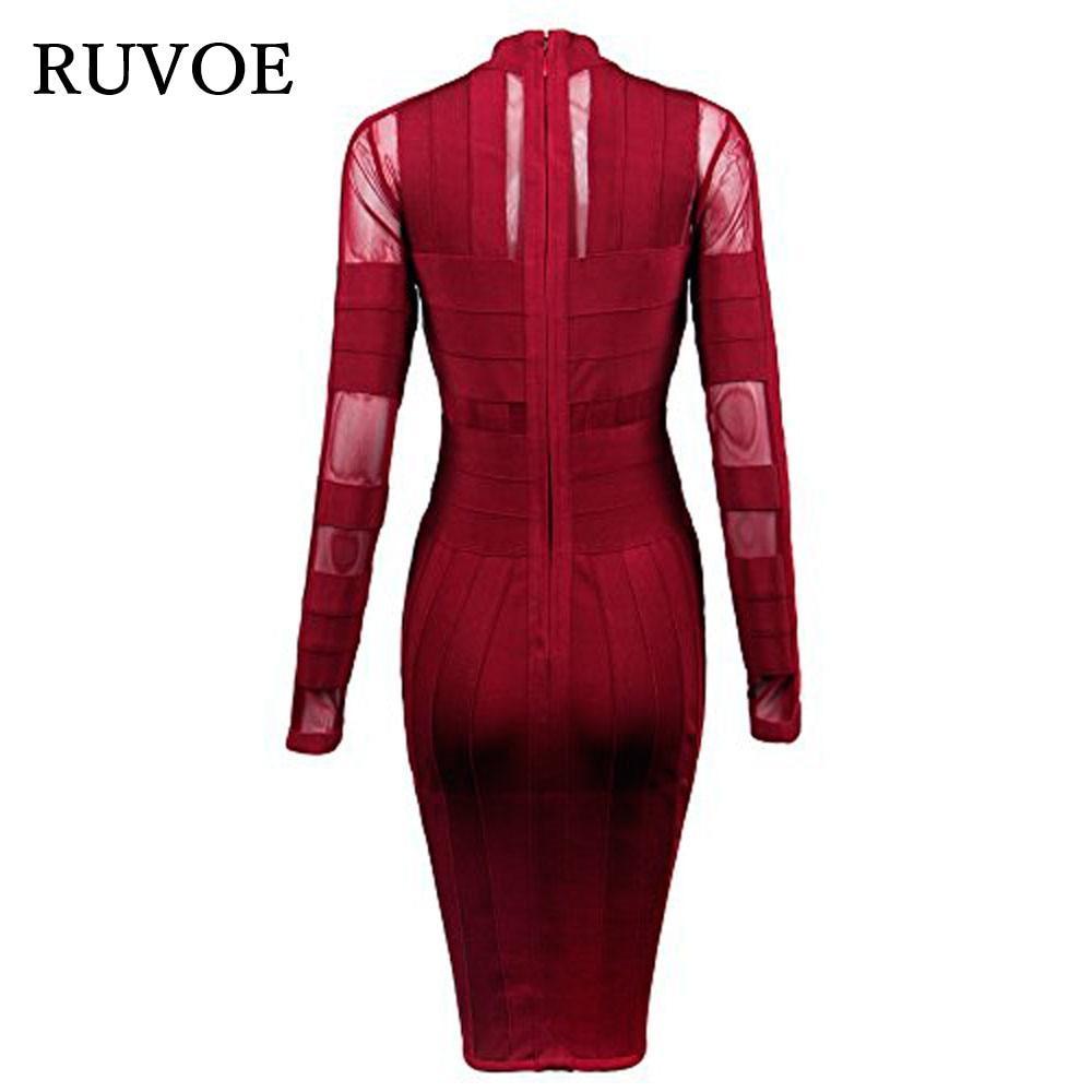 Cocktail Bandage Longueur Vin Robes B Femmes Élégant Maille 2017 Rouge Sexy Genou 306 De Partie Robe Printemps x1OnxFqwX
