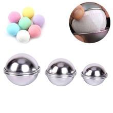 JETTING 6pcs/pack  3D Ball Sphere  Bombs Metal Aluminum Alloy Bath Bomb Mold DIY Bathing Tool Accessories Creative Mold