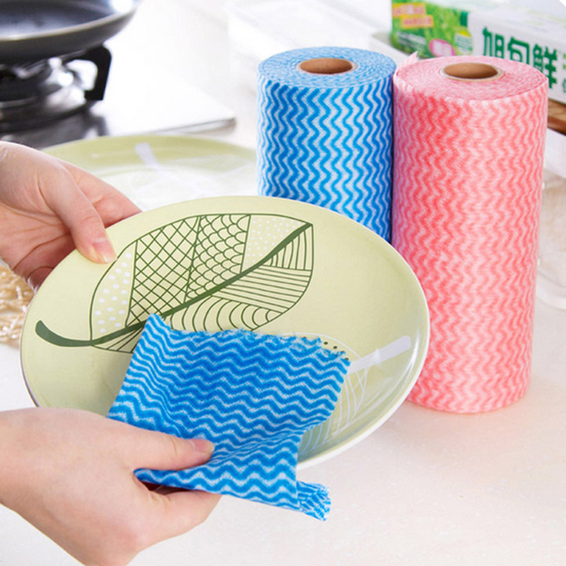 1 Roll Non-Woven Fabric Washing Cleaning Cloth Towels ...