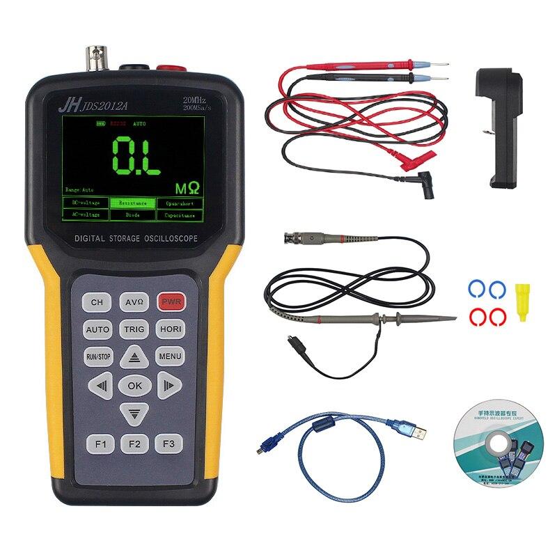 цена на JINHANIC JDS2012A Digital Handheld Oscilloscope 1 Channels 20MHz 200MSa/s Sample Rate Os US Plug
