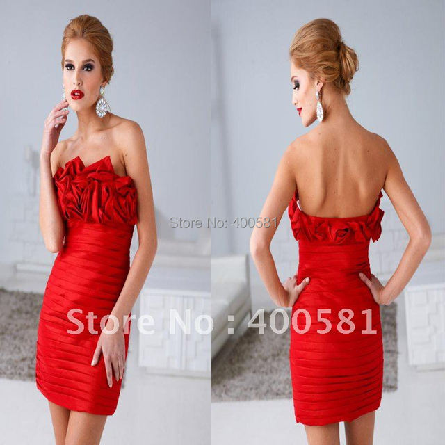 Short Fitted Strapless Dress