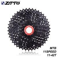 ZTTO MTB Bicycle Parts Cassette 11 Speed 11-42T Bike Wide Ratio MTB BLACK Compatible For Parts M7000 M8000 M9000