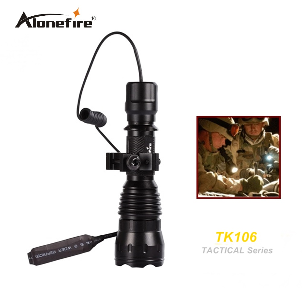 ТК106 КСМЛ-Т6 ЛЕД тактичка пушка Свјетиљка 2000ЛМ ЛЕД бљескалица Лантерна ЛЕД бљескалица + носач за пиштољ + даљински прекидач