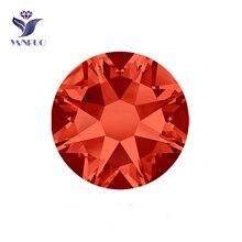 YANRUO #2088HF SS20 Hyacinth 1440Pcs 8 Big Small Glass Strass Flatback Stone Crystal Hotfix Iron On Rhinestone