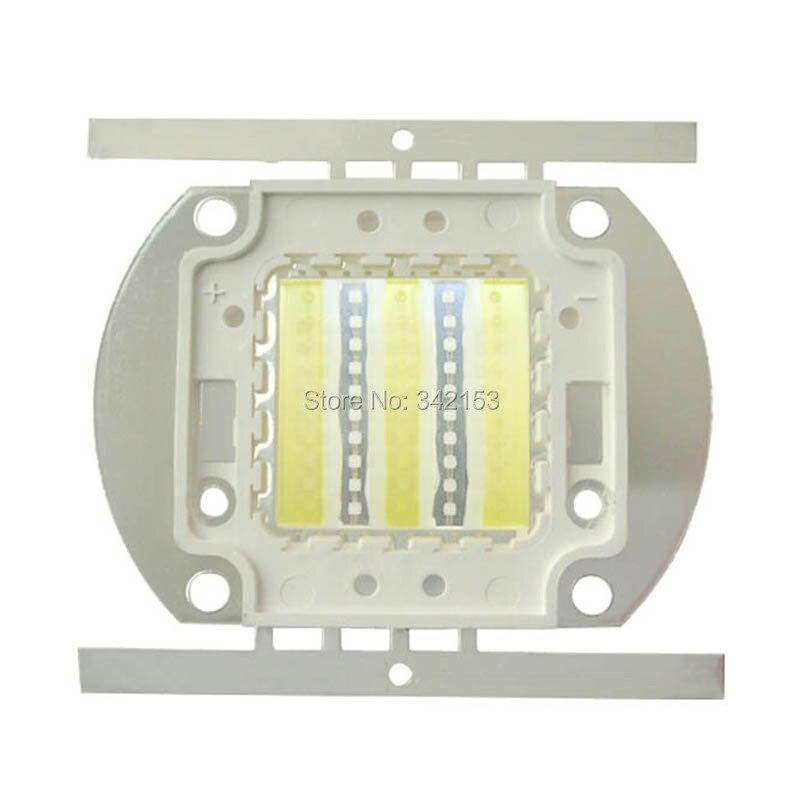 50W High Power Led Emitter Cool White 6000-7000K + Blue 460nm - 470nm DC 32V-36V 1500mA Aquarium Sea Fish LED Bulb Lamp Lighting