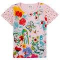 Meninas do bebê Roupas Crianças t camisa Da Menina de Impressão de Algodão camisa de T 2016 nova baby girl roupas de verão outono nova crianças meninas t camisa