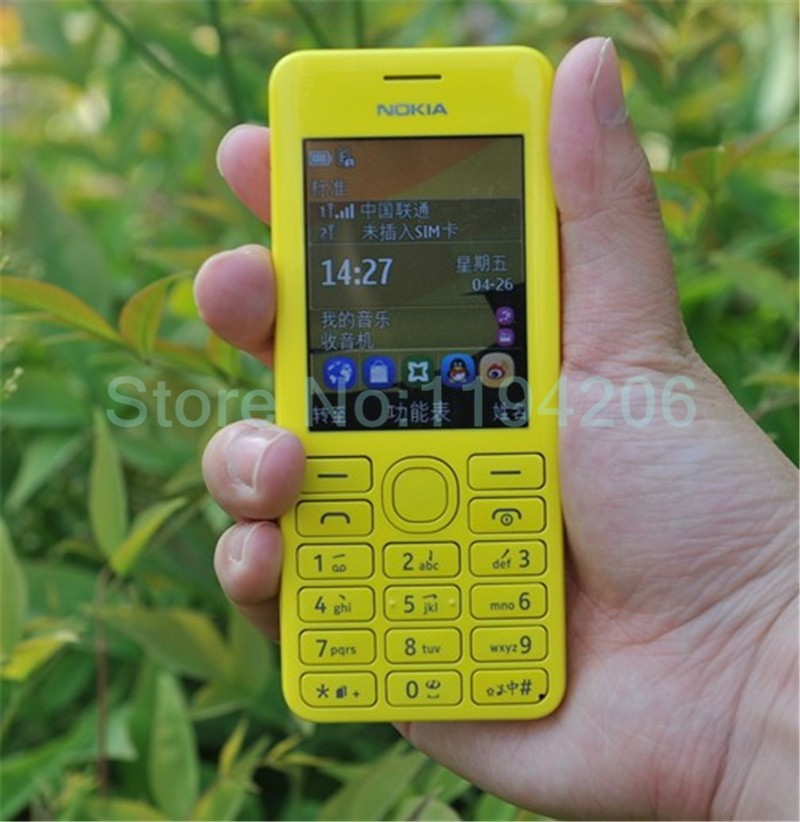 new smart phone Nokia 206 2060 2G GSM 1.3MP 1100mAh Unlocked Cheap Celluar Phone dual sim card blue 4