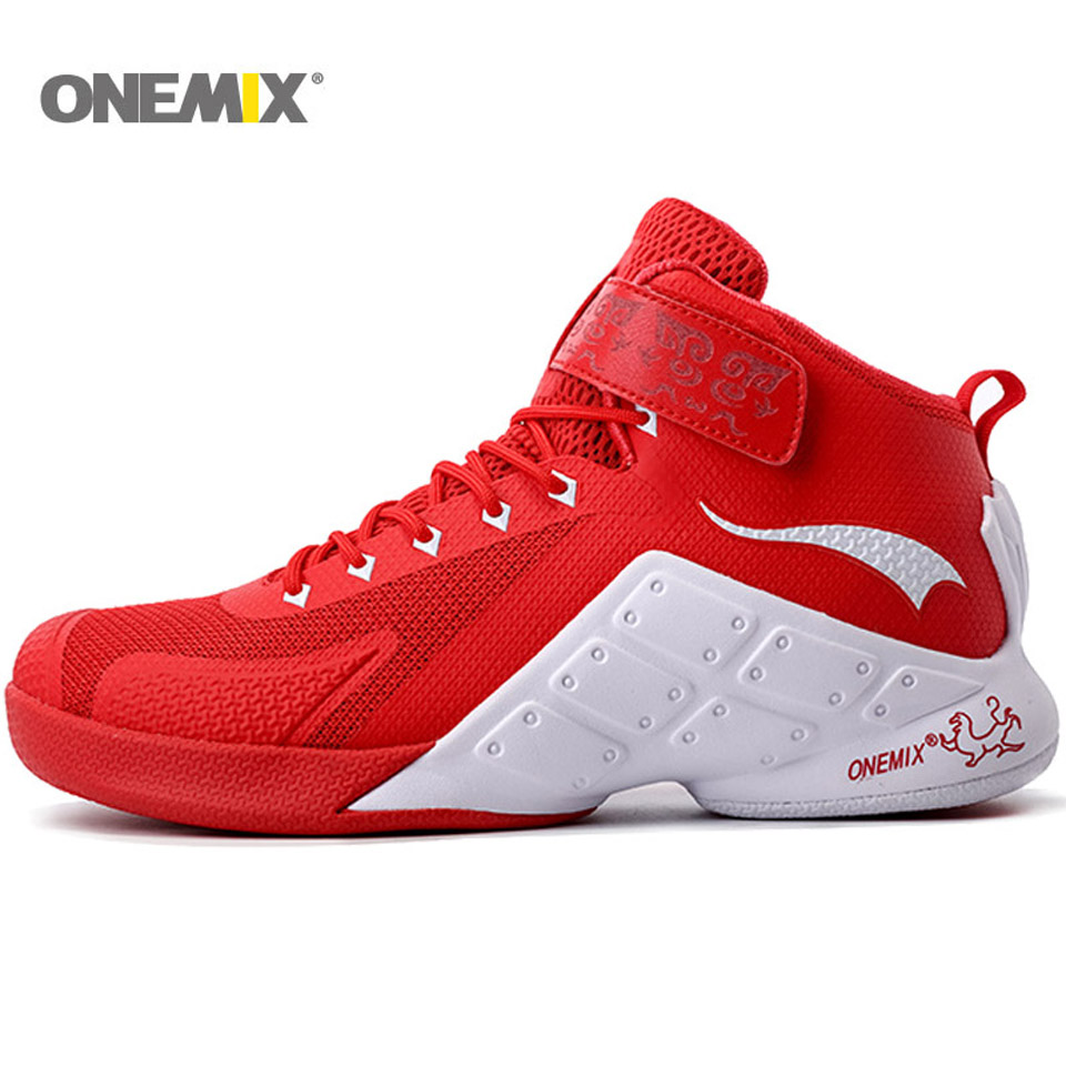 ONEMIX Newest Men Basketball Shoes 2016 Male Ankle Boots Anti-slip Outdoor Sport Sneakers Plus Size EU 39-46 Free Shipping peak sport authent men basketball shoes wear resistant non slip athletic sneakers medium cut breathable outdoor ankle boots