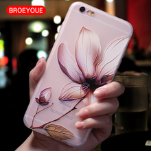 BROEYOUE Case For Xiaomi 5X Redmi 4X 4A Note 4X Note 3 5A 2 3 3S 3X For Xiaomi Mi5 Mi 5S Mi6 Plus 4I 4C TPU Relief Flowers Cases