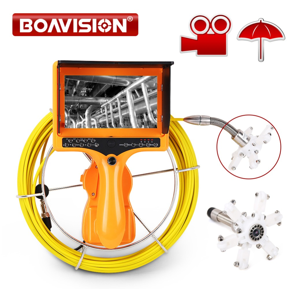 Handheld Industrial Endoscope 7 Pipe Sewer Drain Pipe Inspection Camera Waterproof 20m 30m 40m DVR Record Snake Video Camera