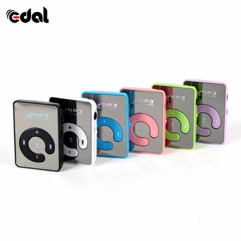 EDAL Newest Mini Mirror Clip USB Digital Mp3 Cheap Music Player Support 8GB SD TF Card 6 Colors A57