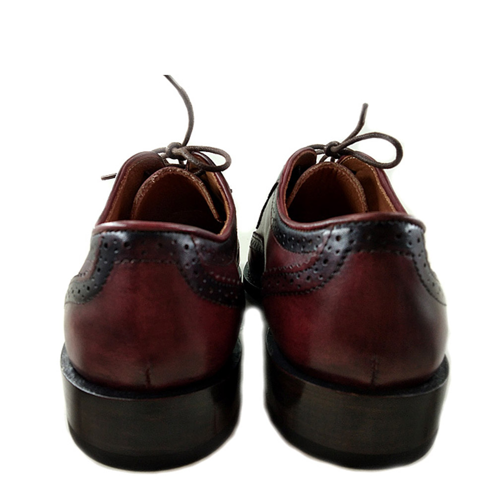 Marca Casamento Wingtip Brogue De Mens Sipriks Festa Tinto Noite Vestem Welted À Goodyear Italiano Vinho Completa Oxfords Personalizado Vermelho Sapatos RCwxaq
