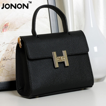 JONON Women's Handbag Genuine Leather Famous Designer Messenger Crossbody Bags Zipper Lockpad Clutch Totes High Bolsa WHB122