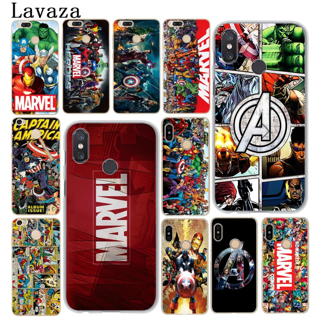 Lavaza Marvel Superheroes The Avengers Phone Case for Xiaomi MI 9 9T CC9 CC9E A3 Pro 8 SE A2 Lite A1 pocophone f1 5X 6 6X MAX 3