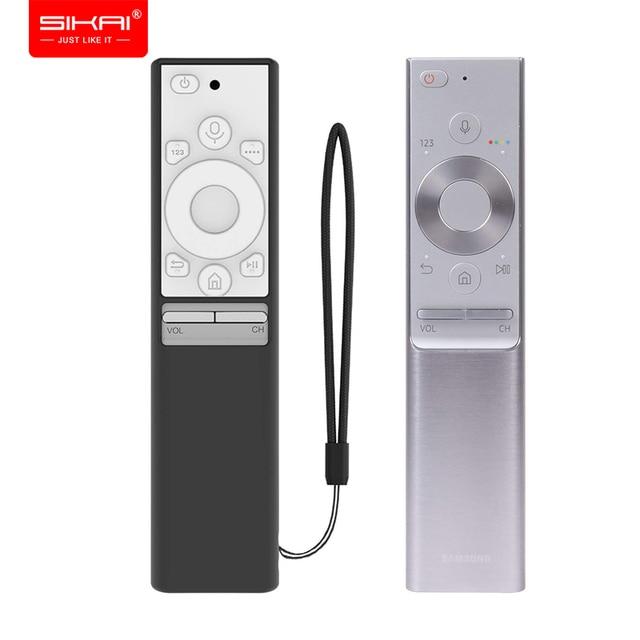 Capas para controle remoto de silicone BN59 01270A BN59 01265A, para samsung qled smart tv capas de proteção à prova de choque
