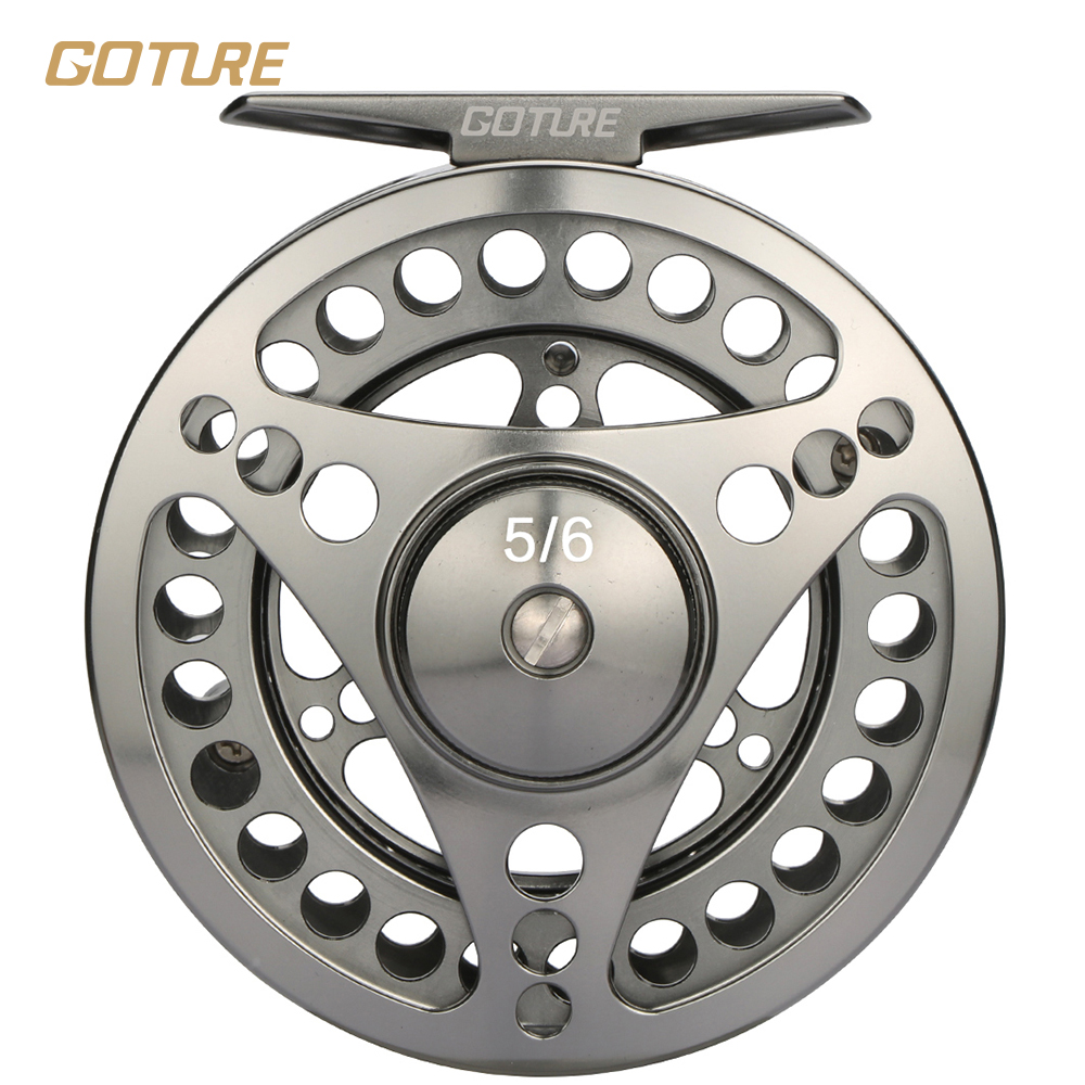 ФОТО Goture Stainless Steel Fly Fishing Reel  2+1BB 1:1  5/6# 7/8# Fishing Reel Fishing Tackle