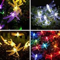 שמש מופעל אורות מחרוזת חיצוני שפירית, 2.5 m 30 נוריות תאורת כוכבים קישוטים לחג המולד עבור בית גן אור