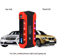 цена на Car Jump Starter Multifunction Emergency auto Charger Battery Power Bank Pack Booster 12V Starting Device Waterproof 4USB
