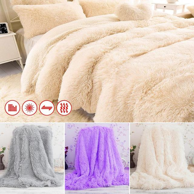 Attirant Super Soft Long Shaggy Bedspread Fuzzy Fur Faux Elegant Cozy With Fluffy  Sherpa Throw Sofa Blanket