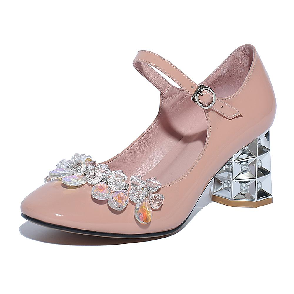 New fashion large size 34-40 brand crystal party wedding strange style high heel women pumps sweet sexy causal office lady shoes 2017 new fashion brand spring shoes large size crystal pointed toe kid suede thick heel women pumps party sweet office lady shoe