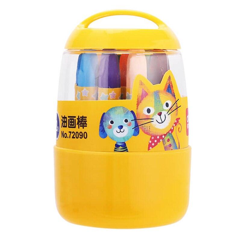 Deli 72090 Color Oil Pastels Color Pencil Oil Pastels Color Wax Crayon Color Pencil Paiting Pencil 12-36 Colors Optional