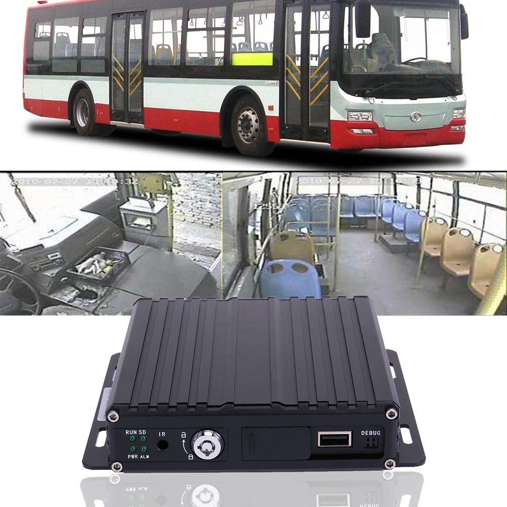 High quality MR9504 Car Bus Mobile DVR 4CH HD Realtime Audio/Video Input Digital Video Recorder operating Chinese/English  цены