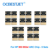 5 Sets 953XL ARC Chip For HP 953XL Permanent Chip For HP Officejet Pro 7740 8210 8702 8710 8715 8720 8725 8730 8740 (BK C M Y)|Cartridge Chip| |  -