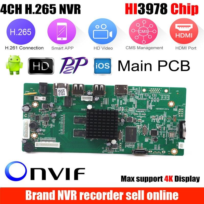 4CH CCTV H.265 NVR conseil 5MP HI3798M sécurité NVR Module 4CH 5MP/8CH 1080 P XMEYE P2P surveillance Mobile Cloud visualisation