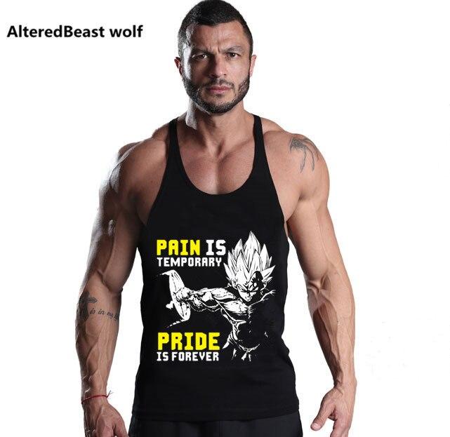 Gyms Clothing GOKU print Bodybuilding   Tank     Top   Men Fitness Singlet Sleeveless Shirt Cotton Muscle Undershirt workout   Tank     Tops