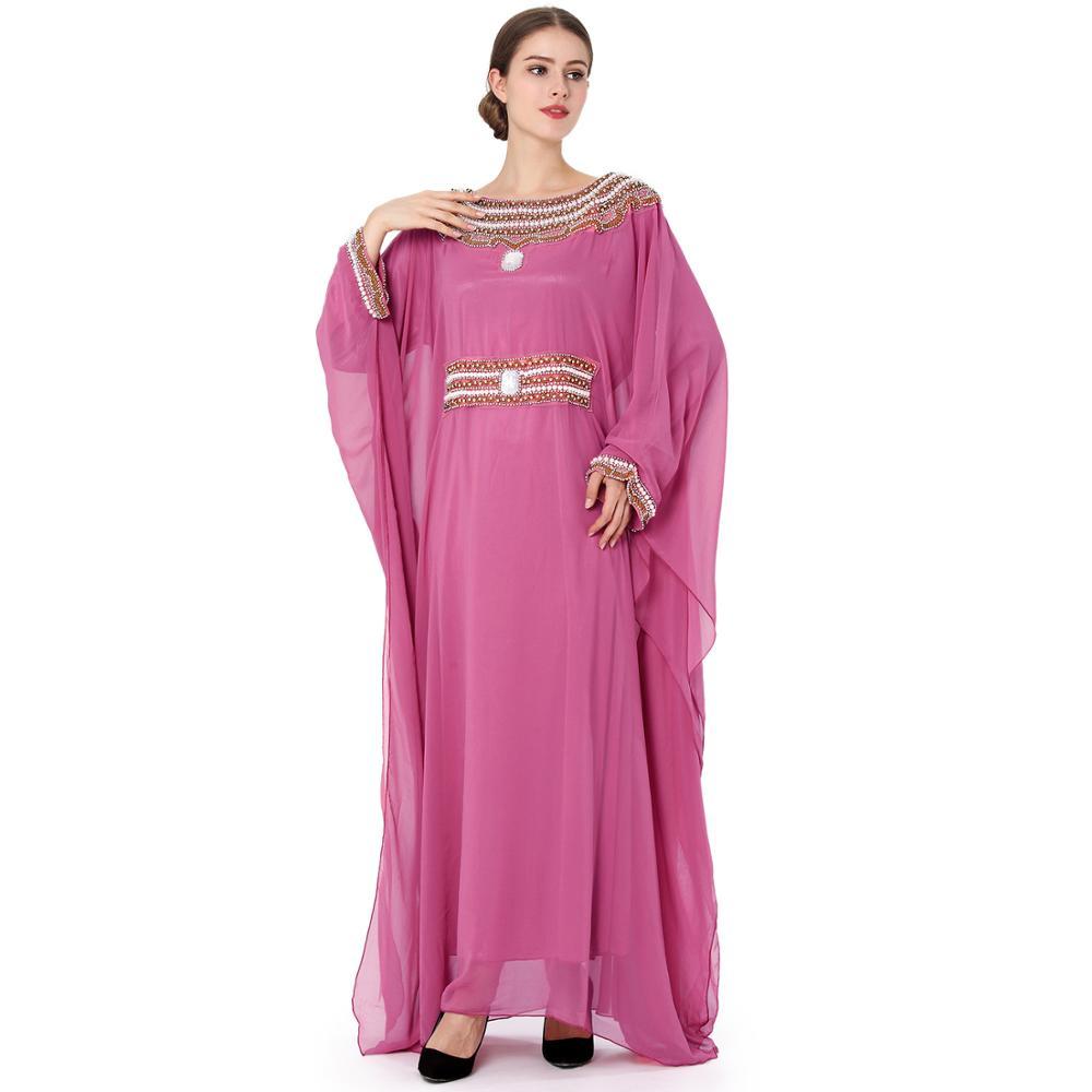 Tienda Online Moda abaya musulmán vestido largo lujo gasa bordado ...