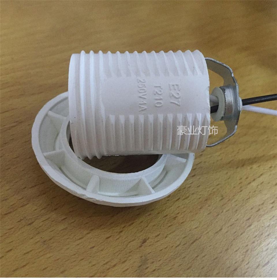 E27 патроны пластиковые винт рот полный зуб держатель лампы с проводом 600 мм крышка лампы аксессуары для освещения сердечник из чистой меди - 3