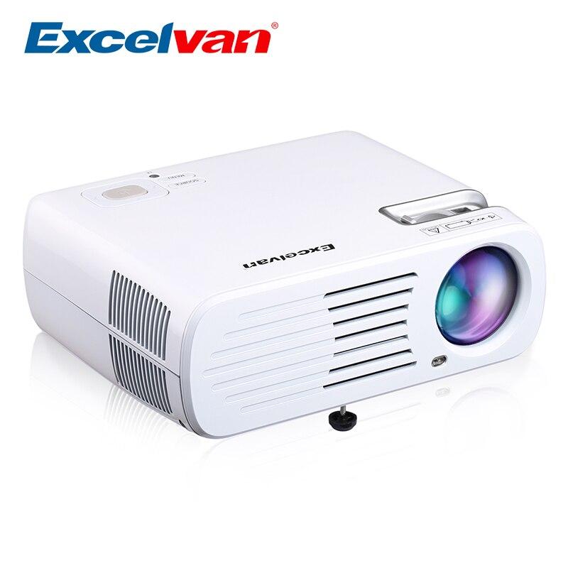 Excelvan BL23 projecteur à domicile 2600 Lumens Portable Mini LED projecteur Full HD 800*480 résolution prise en charge 1080 P 3D Home cinéma
