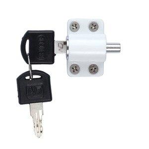 Image 4 - 8 pcs Zinc Sliding Window Patio Screw Door Locking Pin Push Child Safety Lock Anti theft With Key White Sliding Patio Door Catch