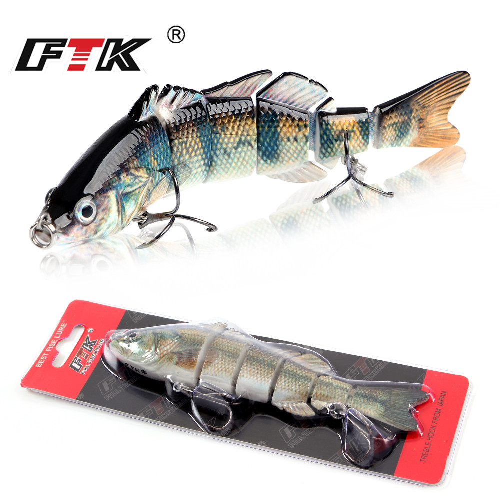FTK 150mm/40g Sinking Wobblers Multi Jointed Swimbait Hard Bait 6-Segments 3D Eyes Fishing Lures Isca Minnow Fishing Tackle 1pcs 29g 16 5cm minnow fishing lures japan deepswim saltwater hard bait 3d eyes plastic crank bait swimbait sinking wobbler